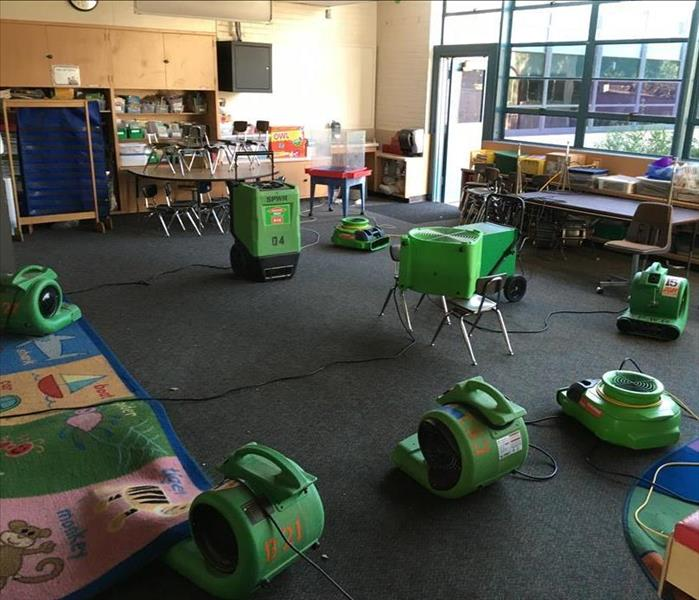 Classrooms in Riverside, CA affected by Water Leak