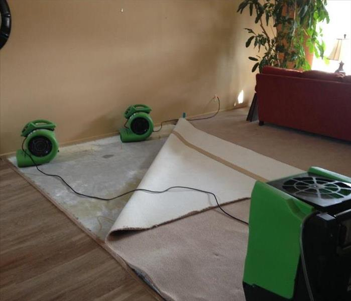 Water Damage Can I dry my carpet after a water leak?